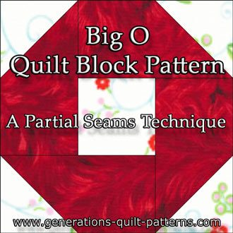 The Big O quilt block tutorial