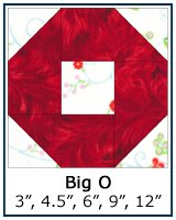 Big O quilt block tutorial