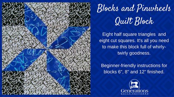 Blocks and Pinwheels quilt block tutorial starts here...