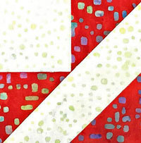Click here for the tutorial for this Brave World quilt block variation