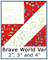 Brave World quilt block tutorial variation - traditional and paper piecing methods