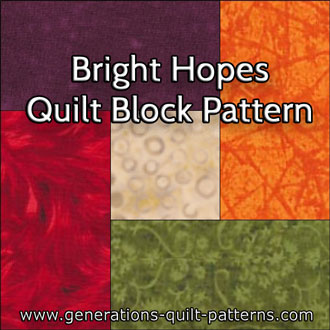 The Bright Hopes quilt block tutorial begins here...