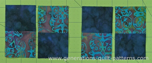 Alternate light and dark fabrics