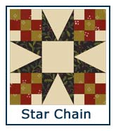 Star Chain quilt pattern design ideas