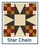 Star Chain quilt pattern design ideas