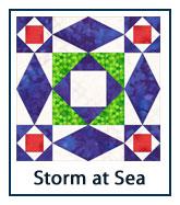 Storm at Sea quilt design inspirations