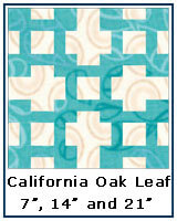 California Oak Leaf quilt block tutorial