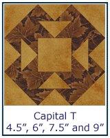 Capital T quilt block tutorial