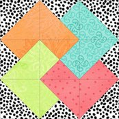 Click here for instructions to make the Card Trick quilt block