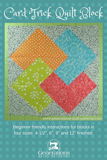 Card Trick Quilt Block From Our Free Quilt Block Pattern Library Adorable Generations Quilt Patterns