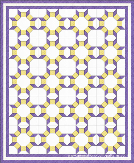 Castle Wall quilt pattern design