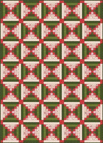 Chimneys and Cornerstones Quilt - Layout 3