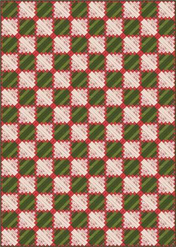 Chimneys and Cornerstones Quilt - Layout 5