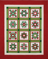 Christmas Window quilt kit available from KeepsakeQuilting.com
