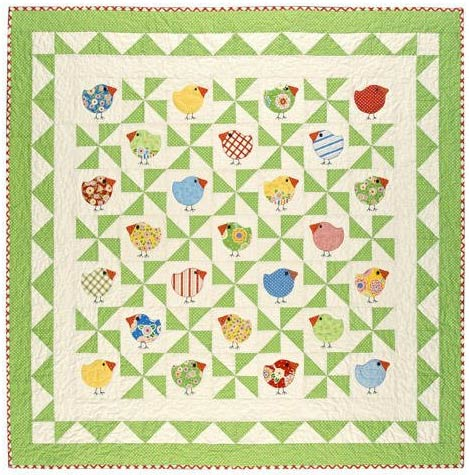 Chubby Chicks quilt pattern by Black Mountain Quilts