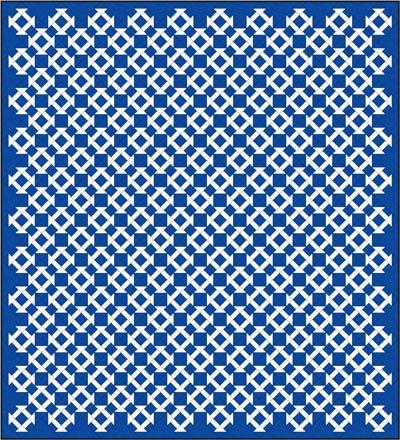 Churn Dash quilt design, diagonal set