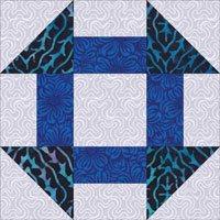 Churn Dash quilt block design variation