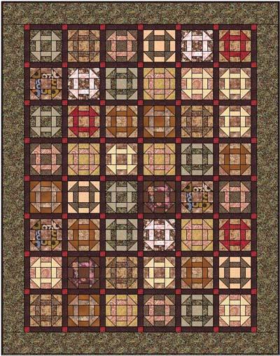 Churn Dash quilt blocks, straight set with sashing
