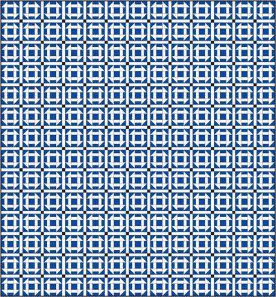 Churn Dash quilt pattern, straight set with sashing