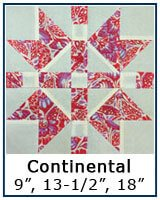 Continental quilt block tutorial