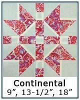 Continental quilt block tutorial