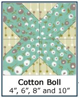 Cotton Boll quilt block tutorial