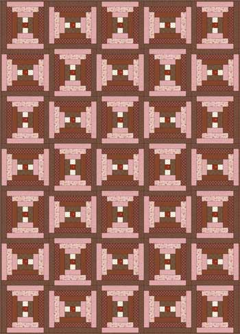 Courthouse Steps Quilt - Layout #3