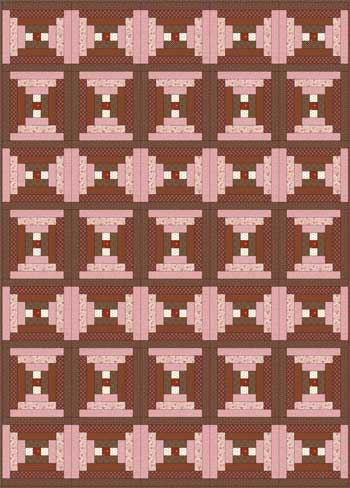 Courthouse Steps Quilt - Layout #4