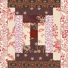 Courthouse Steps Quilt Block - traditional coloring