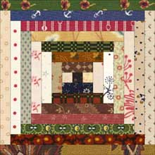 Courthouse Steps Quilt Block - scrappy strips