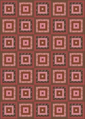 Courthouse Steps Quilt - Color Variation #1
