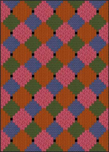 Courthouse Steps Quilt - Color Variation #2