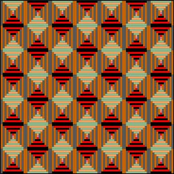 Courthouse Steps Quilt - Color Variation #3