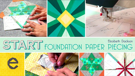Link to Craftsy class, Start Foundation Paper Piecing