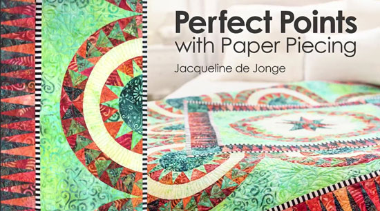 Link to Craftsy class, Perfect Points with paper piecing