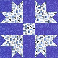 Cross and Crown quilt block design