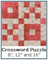 Crossword Puzzle quilt block tutorial