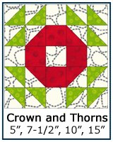 Crown and Thorns quilt block tutorial