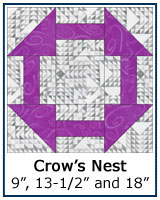 Crows Nest quilt block tutorial