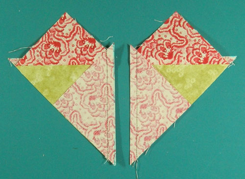 Cut section in two between the stitching lines