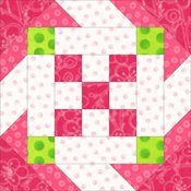 Daisy chain quilt block
