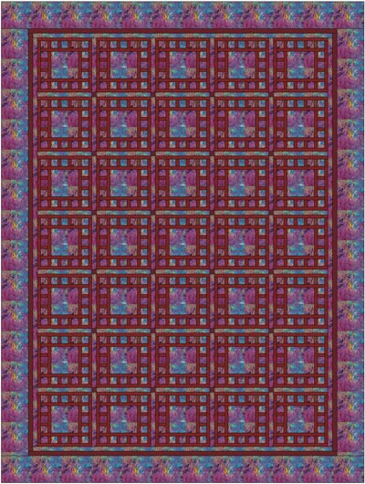 The Dewey block used in a two fabric quilt