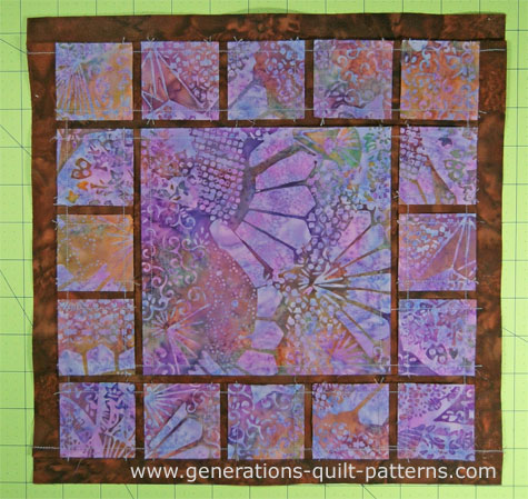 The Dewey quilt block from the back side.