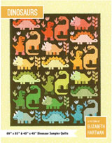 Dinosaurs, a quilt pattern by Elizabeth Hartman