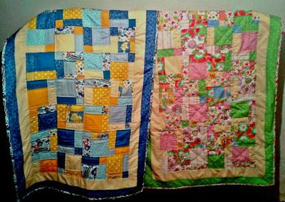 My first two quilts