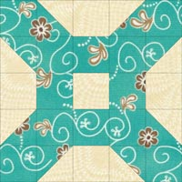 Domino quilt block design