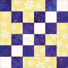 Double Irish Chain Quilt Block variation