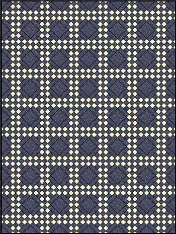 Double Irish Chain Quilt Pattern - horizontal set
