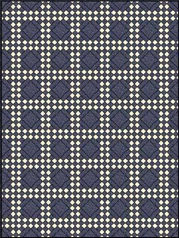Double Irish Chain Quilt Pattern - horizontal set