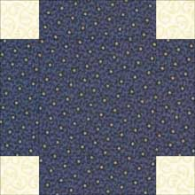 Double Irish Chain quilt block 2